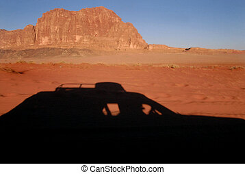 Wadi Rum Jordan - Land Rover jeep journey in Wadi Rum.