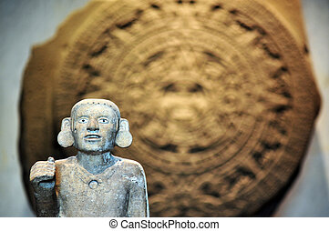 Stone of the Sun - Aztec Calendar - The Mexican sun stone or...