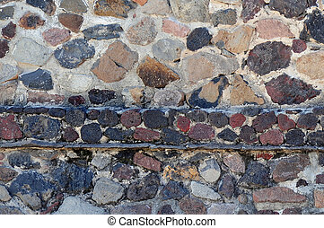 Old Mexican stones wall - An achinet wall in Teotihuacan...