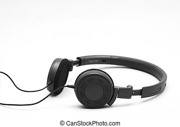 headphone isolated white