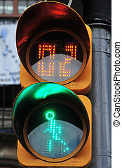 Mexican pedestrian traffic lights, in Mexico City, Mexico