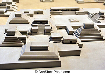Model of Tenochtitlaacute;n, - Model of Tenochtitlán, at...