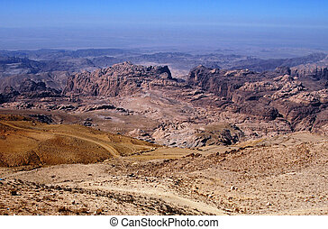 Petra Jordan - A general view over Petra.