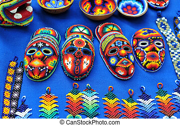 Mexican hand craft for sale at the Art-market in San Angel...