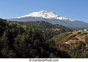 wulkan,  iztaccíhuatl, góra
