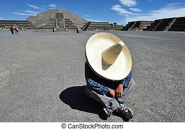 Mexican man having siesta - Mexican man having a siesta at...