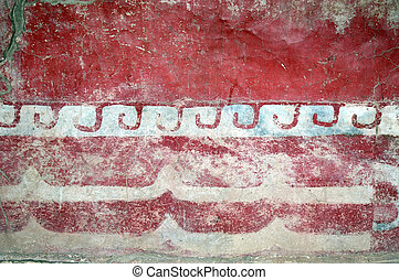 Pyramids of Teotihuacan - Mexican wall decoration at the...