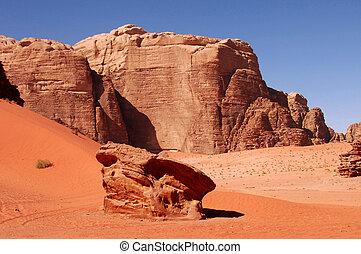 Wadi Rum Jordan - The wonderful landscape view of Wadi Rum.