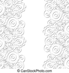 Seamless abstract curly wave pattern