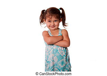 Little toddler rascal girl - Cute little young toddler girl...