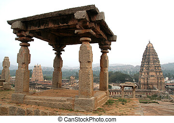 Stone Gallery and Temple Towers - View of temple towers from...