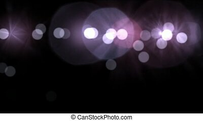 flowing line of light dots