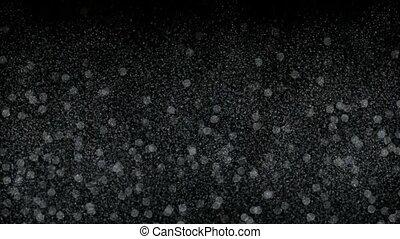 falling snowflake & dots at night