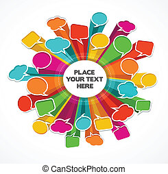 speech bubbles background - speech bubbles poster with space...