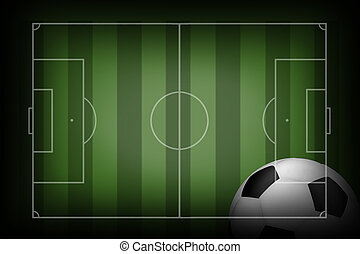 soccer field with ball.