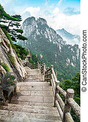 Huangshan mountain path - Huangshan chinese mountain path...