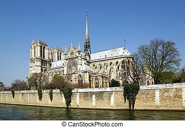Notre-Dame de Paris and the Seine