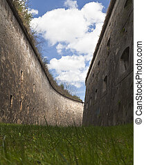 Right   - Formidable moat of a big fortress in Hungary