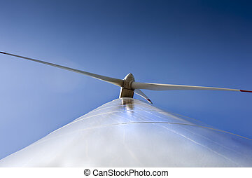 Wainting to the wind - Wind turbine detail in the middle of...