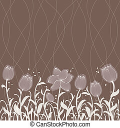 Vector floral invitation pattern