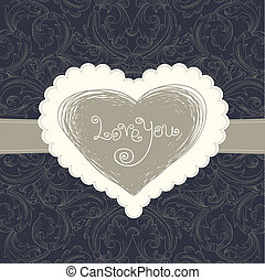 Wedding card template, vector eps10