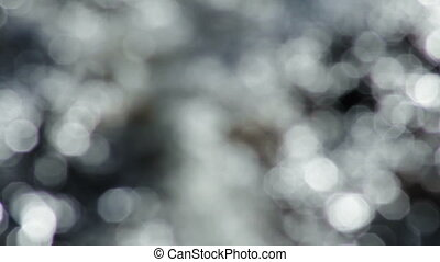 Defocused water bokeh glitters