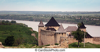 Ancient fortress - The ancient castle in the Ukraine, where...