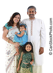 Traditional Indian family - Happy traditional Indian family...