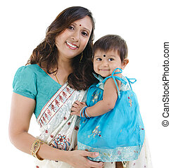 Indian mother and baby girl
