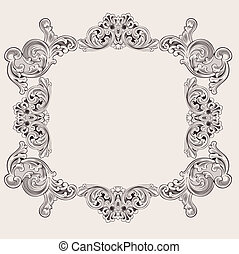 Illustration Luxury Vintage Aluminum Frame Template