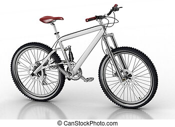 Bicycle - Bicycle isolated on white background with...