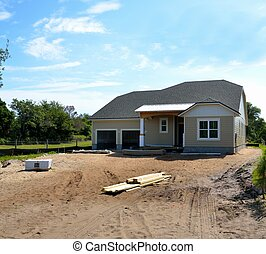 New Home Construction - New home being constructed on the...