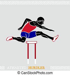 Athlete Hurdler