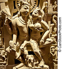 Holy couple - North-East India, X Century A.D., Basalt