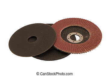 Special angle grinder sander cut discs isolated - Special...