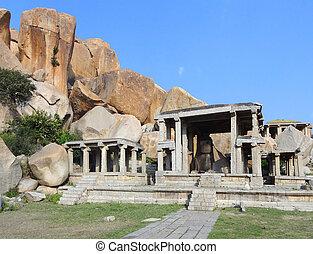 Nandi Temple at Vijayanagara - Nandi Temple at the Sacred...