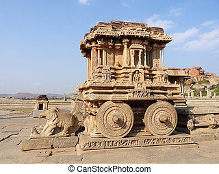 stone chariot at Vittala Temple of the Sacred Center around...