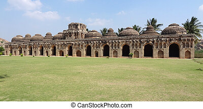 Elephant stables at Vijayanagara