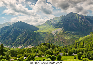 Pyrenees mountain views from Taull, Catalonia, Spain