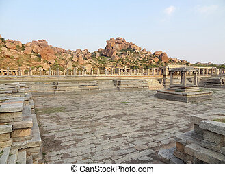 AchyutaRaya Temple at Vijayanagara - AchyutaRaya Temple at...