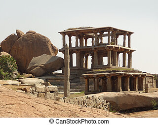 Hemakuta Hill at Vijayanagara - Hemakuta Hill at the Sacred...