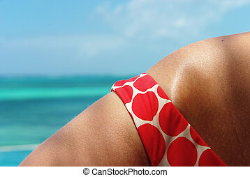 Detail of a lady bikini
