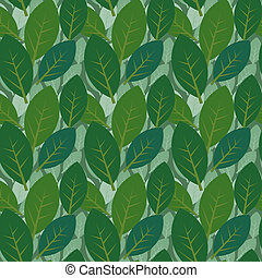 Two layered leaves pattern - Seamless leaves pattern two...