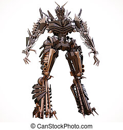 Evil robot - Robot character, with an evil appearance, the...
