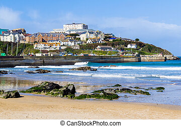 Towan Beach Newquay Cornwall England UK