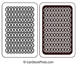 Design. Playing card - Design of a playing card in two...