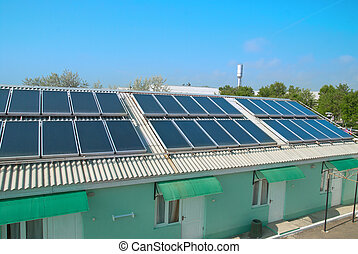 Solar system on the roof - Solar water heating system on the...