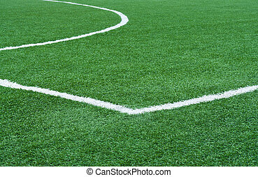 Football field with marking - Part of football field with...
