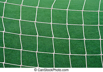 Goal soccer net. - Goal soccer net background grass football...