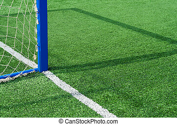 Part football field with goal. - Part field with goal for...